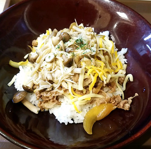 すき家ペペロンチーノ牛丼