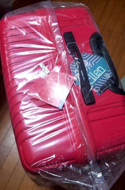 スーツケース上